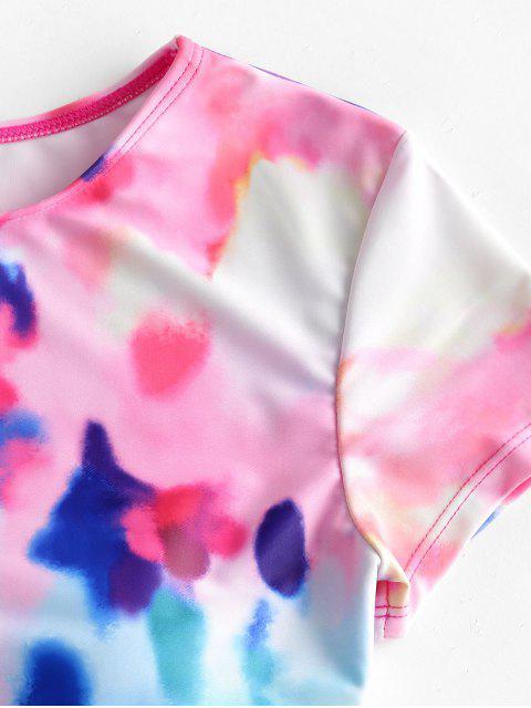ZAFULBañador de Dos Piezas con Tiro Alto de Teñido de Colores - Multicolor-A S Mobile