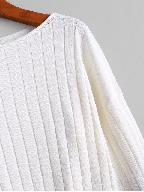 CamisoladeGota Ombro de Slash Neck Recortada - Branco M Mobile