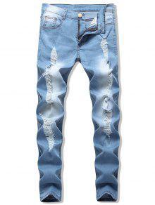 جينز سكيني باهت - جينز ازرق 32