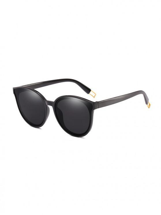Kurze Übergroße Anti-UV-Sonnenbrille - Schwarz