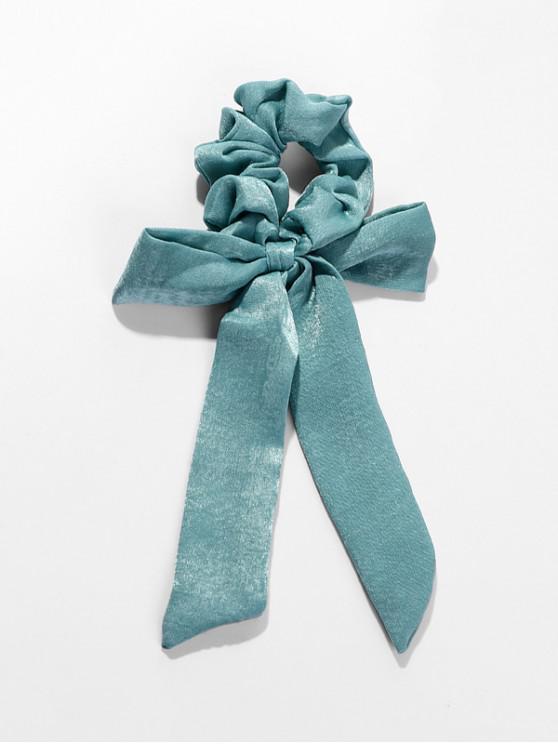 shops Bowknot Horsetail Ribbon Chiffon Scrunchies - PEACOCK BLUE