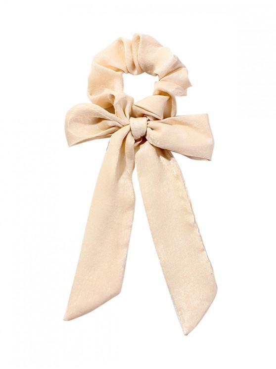 ladies Bowknot Horsetail Ribbon Chiffon Scrunchies - WHITE