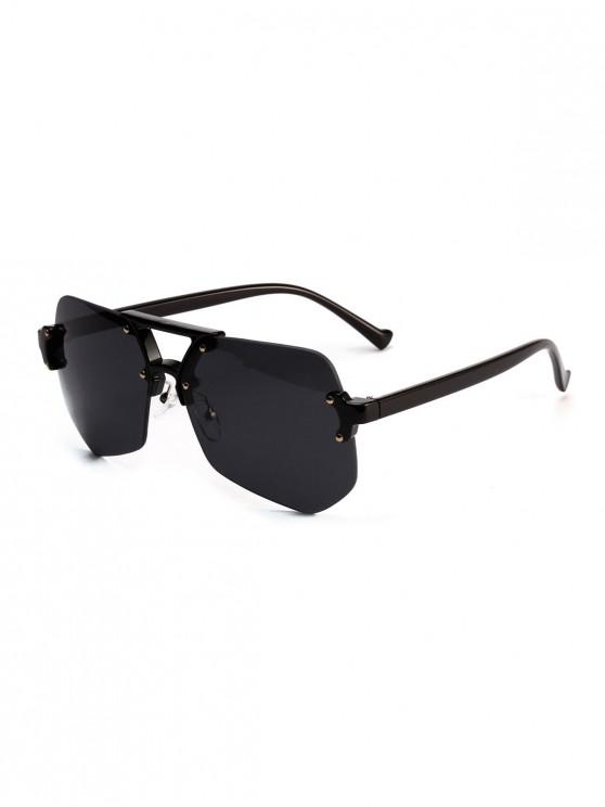 womens Irregular Geometric Design Outdoor Sunglasses - BLACK