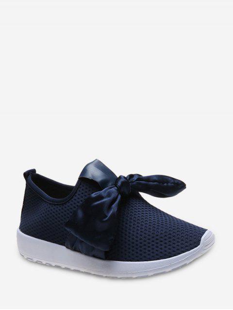 在運動鞋的絲帶弓穿孔的滑動 - 深藍 歐盟35 Mobile