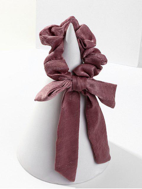 fancy Bowknot Horsetail Ribbon Chiffon Scrunchies - PURPLE  Mobile