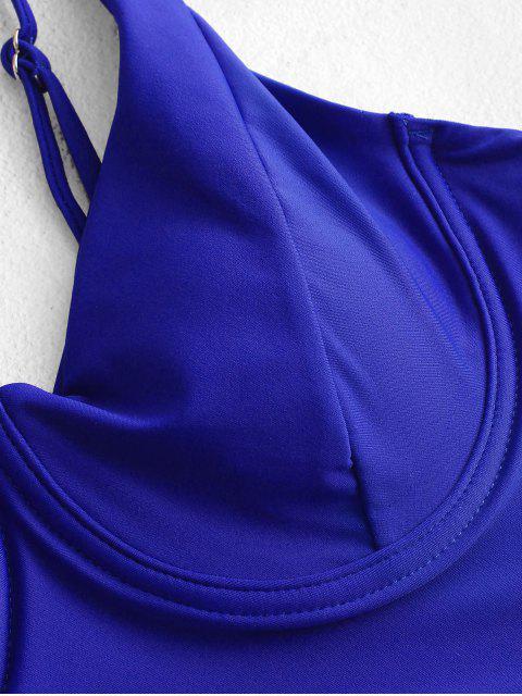 ZAFUL TankinideCinturaAltaconAros - Azul Cobalto L Mobile
