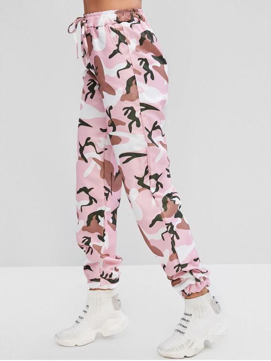 Pantalon de Jogging Camouflage à Cordon avec Poches - Multi-A L
