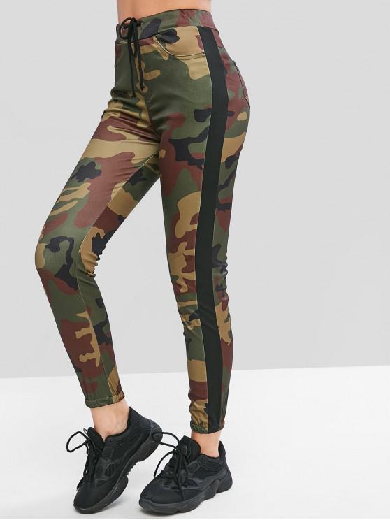 womens Camouflage Drawstring Jogger Pants - MULTI-D XL