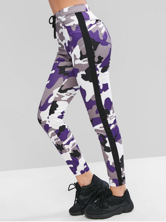 hot Camouflage Drawstring Jogger Pants - MULTI-B S