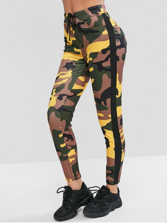 womens Camouflage Drawstring Jogger Pants - MULTI-A M