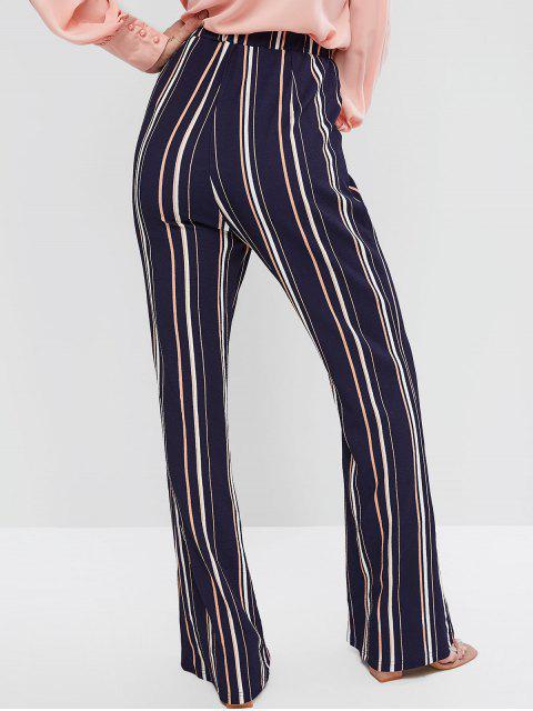 Pantalones de rayas acampanadas de cintura alta ZAFUL - Cadetblue M Mobile