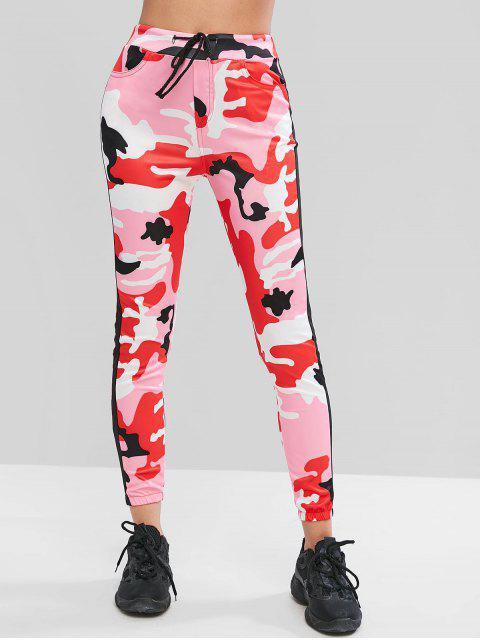 lady Camouflage Drawstring Jogger Pants - MULTI-C XL Mobile