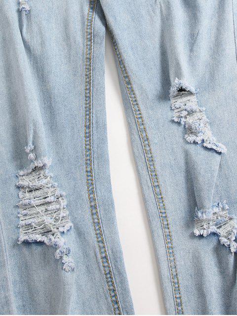 Jean Décontracté Déchiré Lavage Léger - Bleu de Jean L Mobile