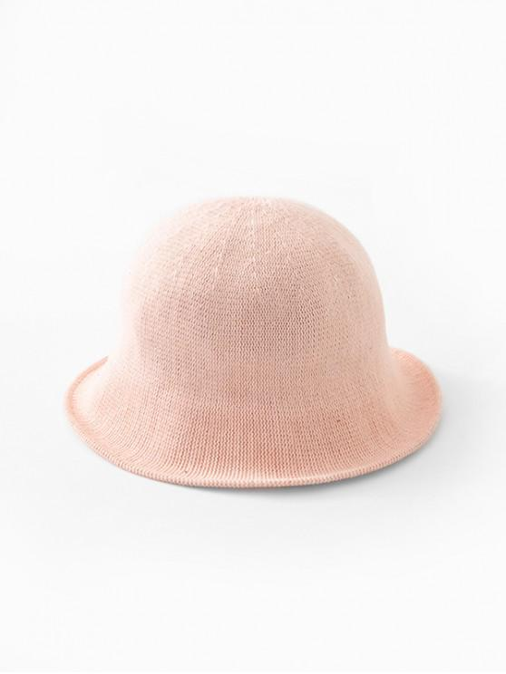 outfits Solid Color Round Top Knitted Hat - PINK
