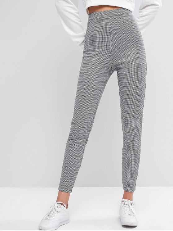 ZAFUL Legging Décontracté à Carraux Imprimé à Taille Haute - Noir XL