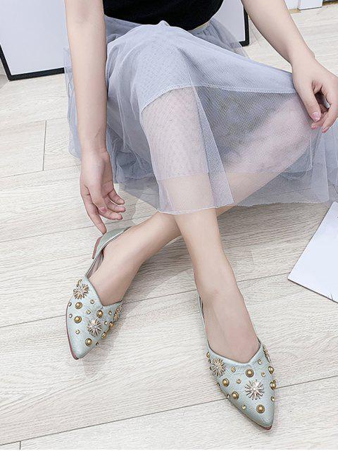 Chaussures Plates Flocon de Neige Cloutées à Bout Pointu Deux Pièces - Vert Foncé de Mer EU 40 Mobile
