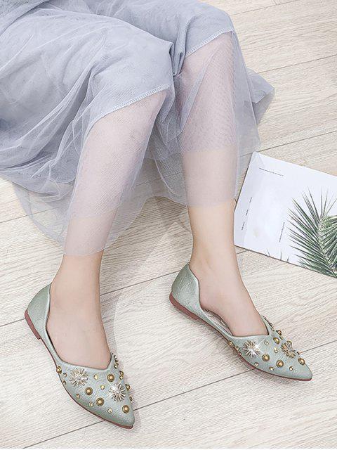Chaussures Plates Flocon de Neige Cloutées à Bout Pointu Deux Pièces - Vert Foncé de Mer EU 39 Mobile