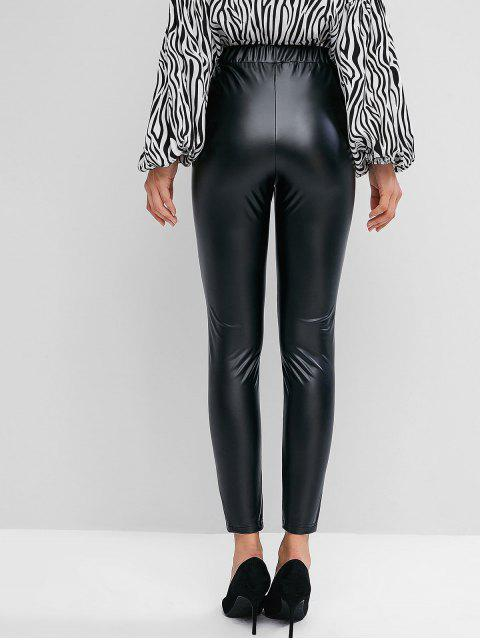 shops ZAFUL Faux Leather Leggings - BLACK S Mobile