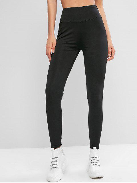 shops Active Piping Scrunch Butt Leggings - BLACK M Mobile