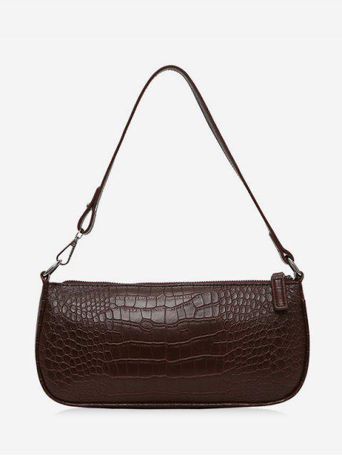 hot Retro Animal Embossed PU Leather Shoulder Bag - BROWN  Mobile