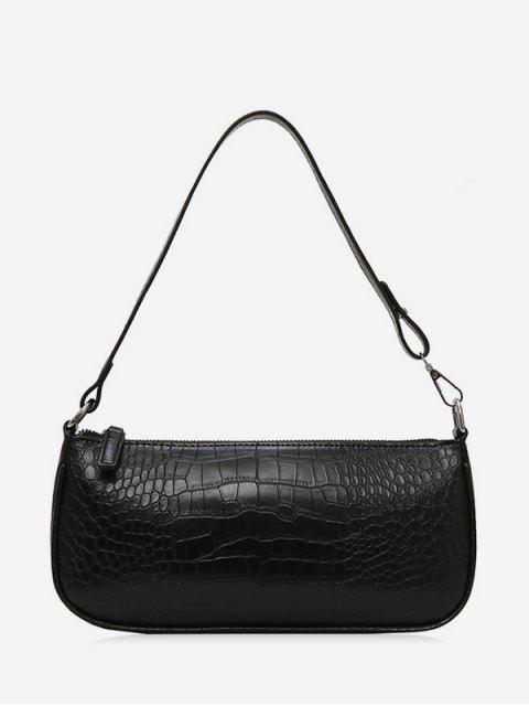 Ретро PU кожа Сумка через плечо С рельефным рисунком животных - Чёрный  Mobile
