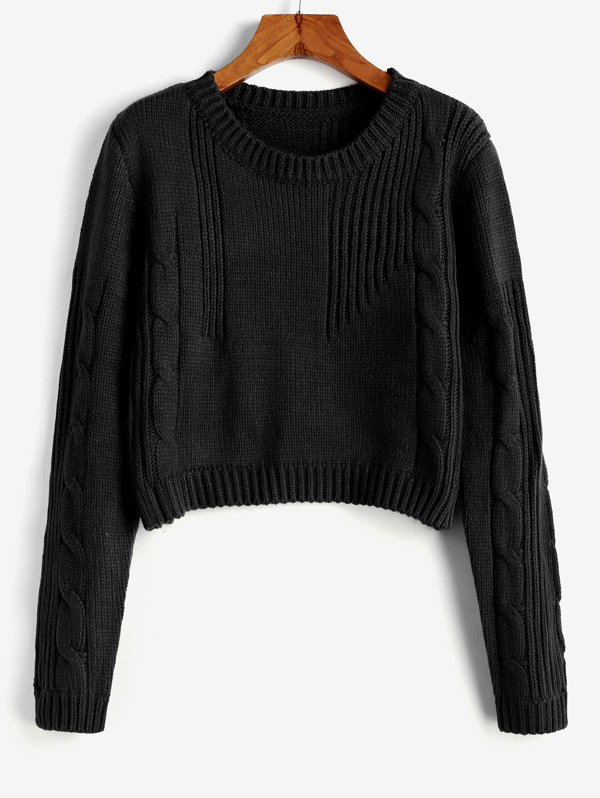 Cable Knit Cropped Sweater thumbnail