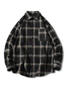 Plaid Long Sleeve Chest Pocket Shirt