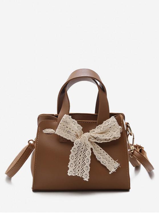 affordable Retro Bowknot Design Crossbody Bag - LIGHT BROWN