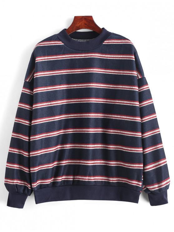 Camisola de Lã Gota Ombro Listras - Multi-B Um Tamanho