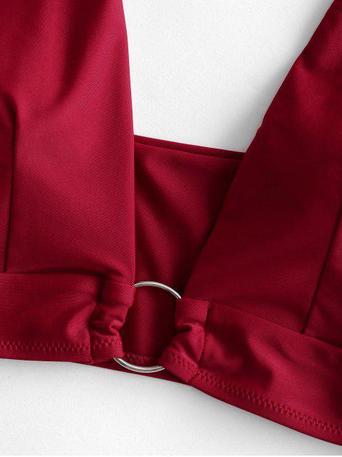 ZAFUL junta tórica de alta Cut Tankini del traje de baño - Ladrillo Refractario L Mobile