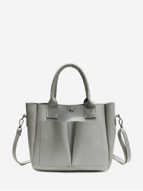Ретро Саквояж С карманом - Облачный серый  Mobile