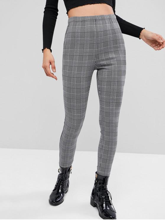 buy ZAFUL High Waist Houndstooth Print Leggings - MULTI-A M