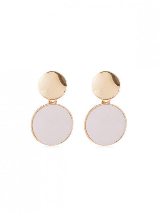 trendy Metal Shell Drop Earrings - MULTI-B
