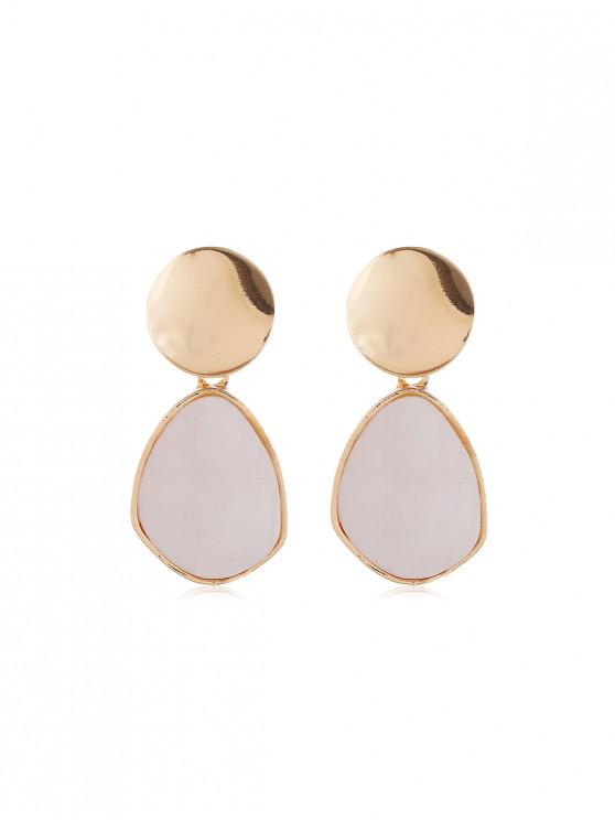 fashion Metal Shell Drop Earrings - MULTI-C