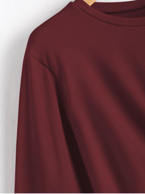 Sudadera corta torcida - Vino Tinto M Mobile