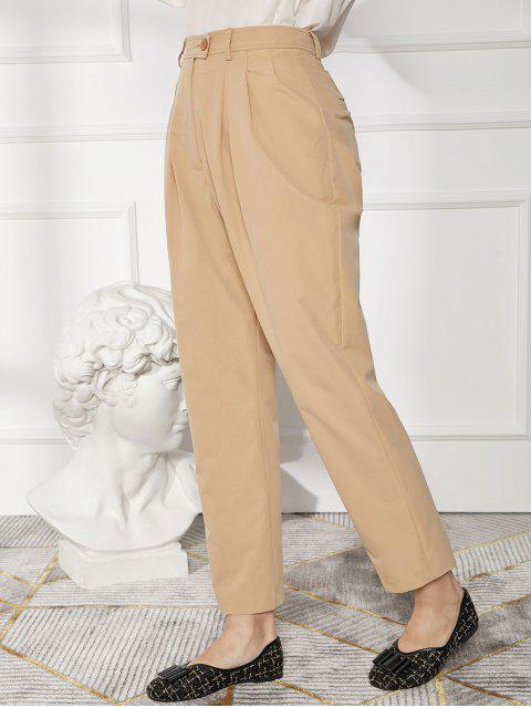 Pantalones lápiz de trabajo de bolsillo de cintura alta - Albaricoque L Mobile