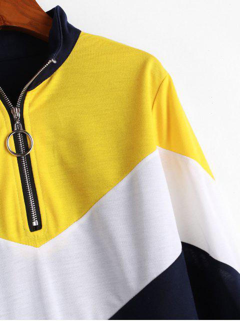Mini Robe à Demi-zip en Blocs de Couleurs - Multi-A M Mobile