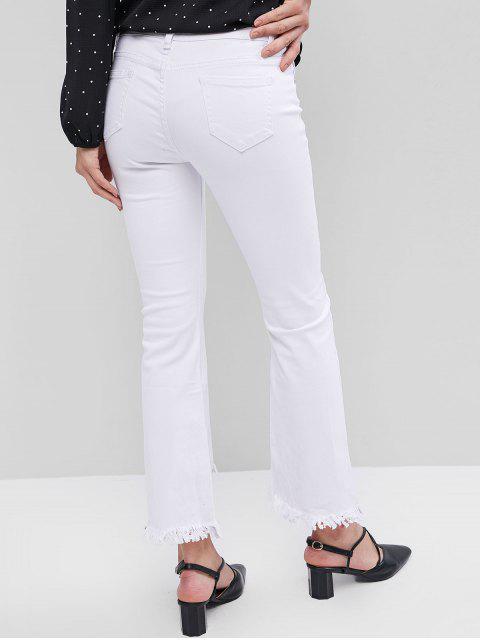 Pantalones de corte de arranque rasgados - Blanco M Mobile