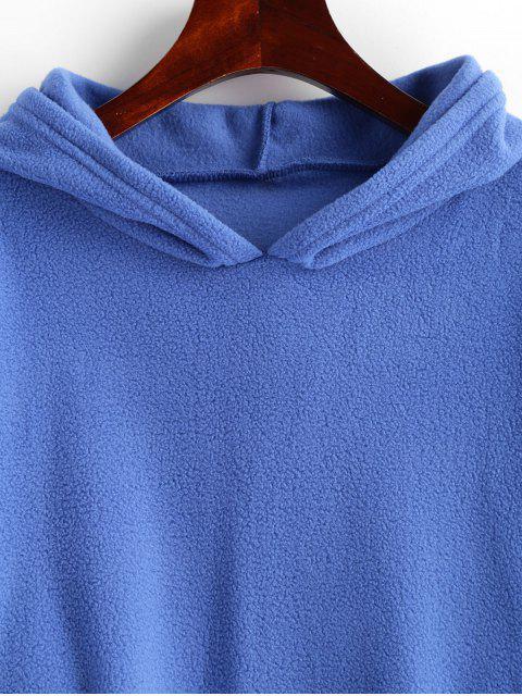 Sweat à Capuche Simple Tunique à Goutte Epaule en Laine - Bleu M Mobile