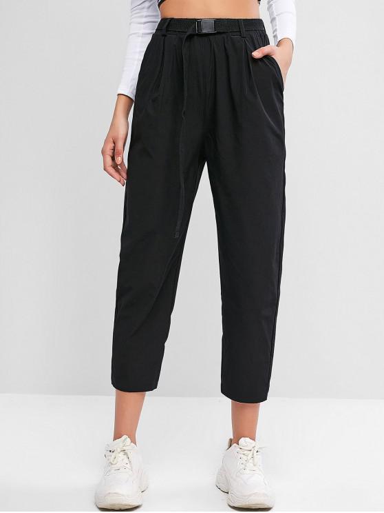 miglior sito web 3eda6 a577e Pantaloni con cintura a vita alta tasca APRICOT BLACK