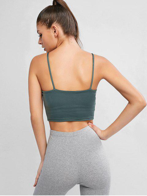 outfits Active Padded Cami Top - GRAYISH TURQUOISE XL Mobile