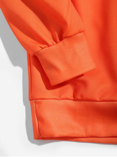 טרנינג צלב קדושי עצם גולגולת המכתב הגרפי סוודר - מנגו אורנג ' 3XL Mobile