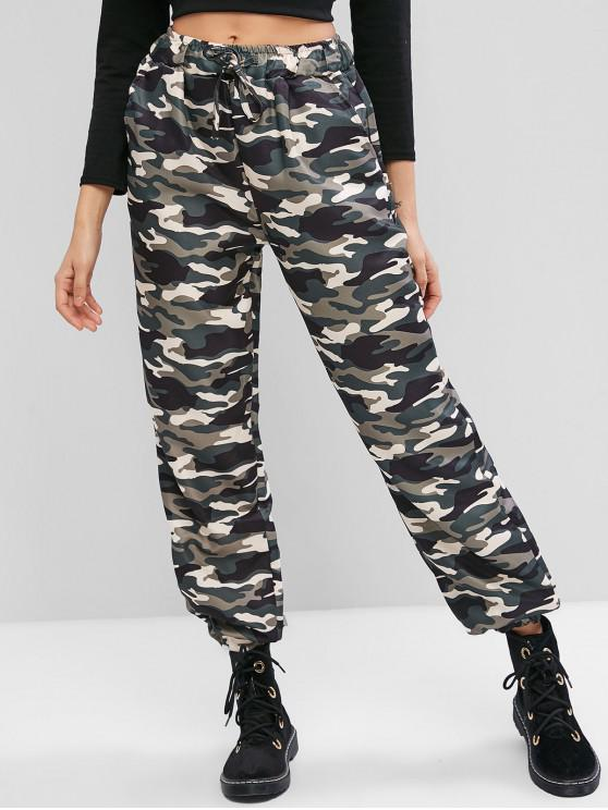 best Camouflage Print Pockets Jogger Pants - ARMY GREEN M