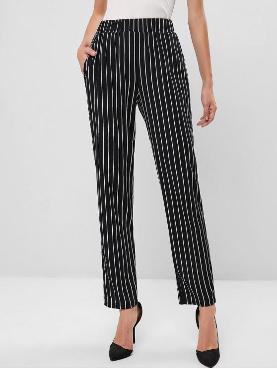 hot ZAFUL Vertical Striped Pencil Pants - BLACK XL