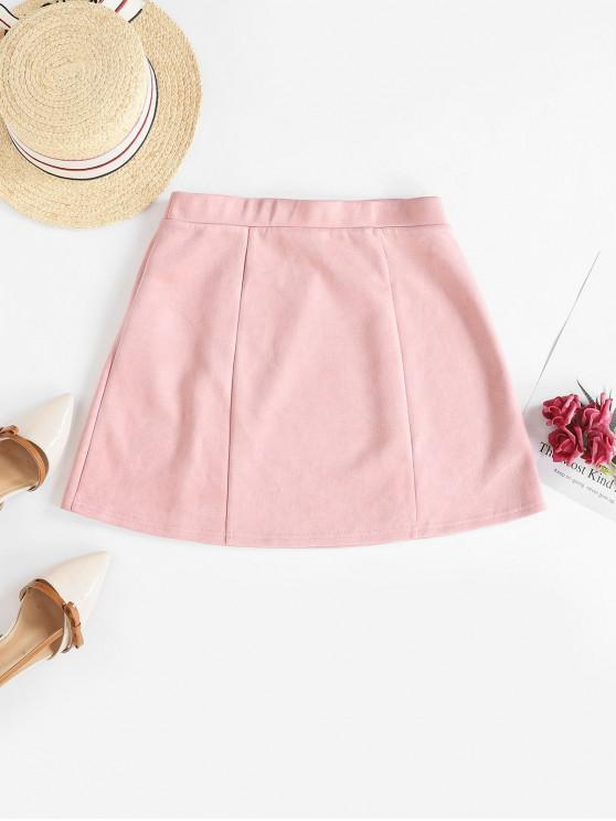 Minifalda ZAFUL Faux Suede A Line - Rosa M
