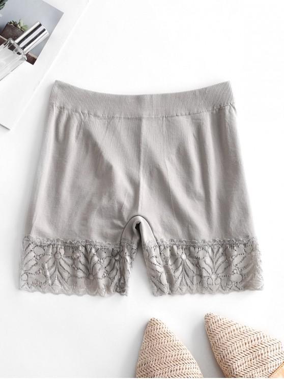 online Lace Edge Slip Shorts - PLATINUM ONE SIZE