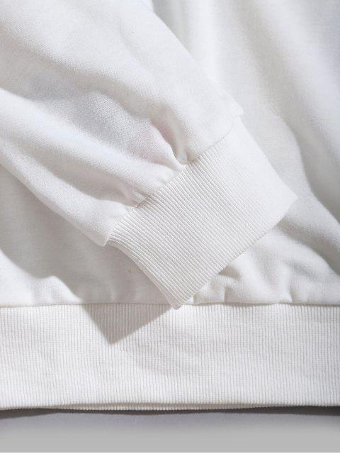 sale ZAFUL Dragon Flower Letter Graphic Sweatshirt - WHITE XL Mobile