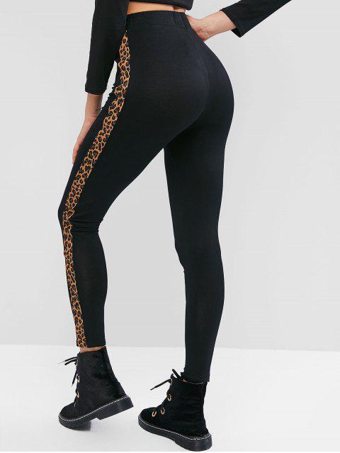 latest ZAFUL Side Leopard High Waisted Leggings - MULTI-A L Mobile