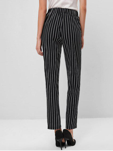Pantalones lápiz a rayas verticales ZAFUL - Negro M Mobile