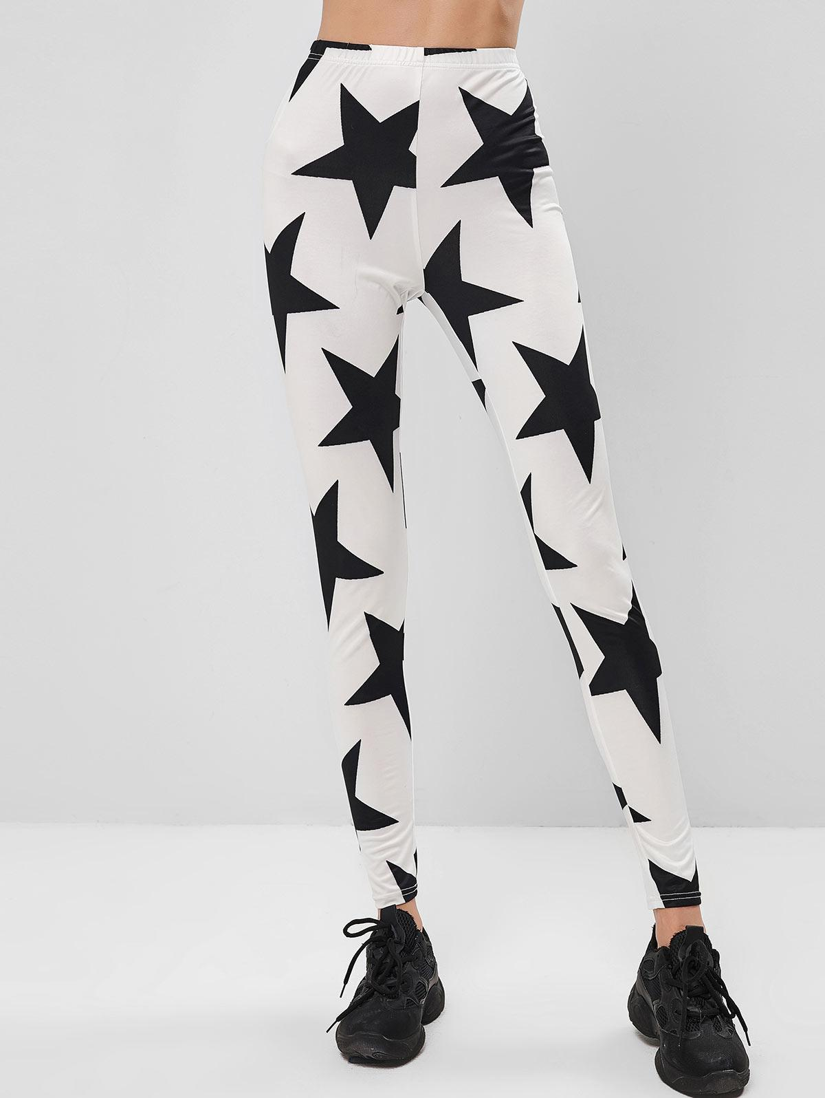 ZAFUL Star Print High Rise Leggings